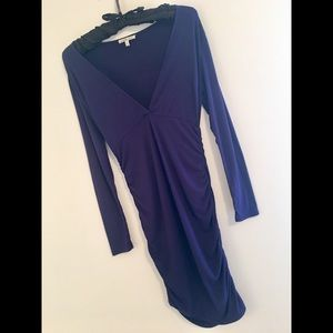 Charlotte Russe Navy Blue Ruched Dress ✨Very sexy✨